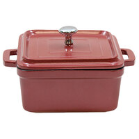 Tablecraft CWDCC552DR Dusty Rose Diecast Aluminum Mini Round Cocotte