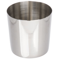 Matfer Bourgeat 342477 2 3/16 inch x 2 3/16 inch Stainless Steel Rum Baba / Dariole Mold - 6/Pack