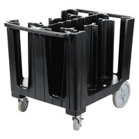Cambro ADCS110 S Series Adjustable Black Dish Caddy with Vinyl Cover - 6 Column