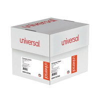 Universal UNV15704 9 1/2 inch x 11 inch White Case of 15# 3 Part Perforated Continuous Print Computer Paper - 1100/Sheets