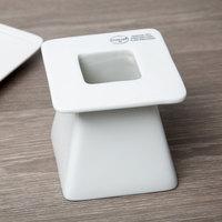 Syracuse China 905356007 Slenda 4 inch Square Royal Rideau White Pedestal Plate Riser - 4/Case