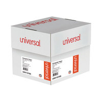 Universal UNV15705 9 1/2 inch x 11 inch White Case of 15# 4 Part Perforated Continuous Print Computer Paper - 900/Sheets
