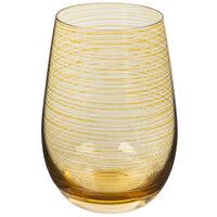 Stolzle S3527312T Twister 16.5 oz. Amber Stemless Wine Glass / Tumbler - 24/Case