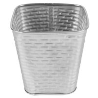 Tablecraft GTSS4 15 oz. Stainless Steel Square Fry Cup