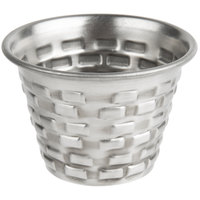 Tablecraft GRSS2 Brickhouse 2.5 oz. Round Stainless Steel Sauce Cup