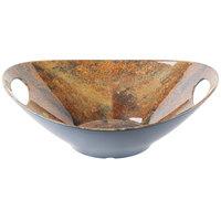 Tablecraft MBM145GT Frostone 3 Qt. Garland Granite Oblong Melamine Bowl with Handles