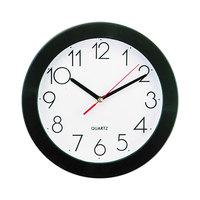 Universal UNV10421 9 3/4 inch Black Wall Clock