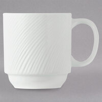World Tableware BO-1114 Basics Orbis 11.5 oz. Bright White Stacking Mug - 36/Case
