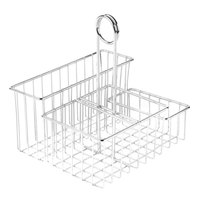 Clipper Mill by GET 4-21699 8 inch x 6 3/4 inch Chrome Metal 4-Compartment Condiment Caddy