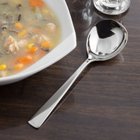 Reed & Barton RB113-016 Diana 5 7/8 inch 18/10 Stainless Steel Extra Heavy Weight Bouillon Spoon - 12/Case