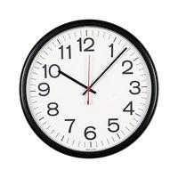 Universal UNV11381 13 1/2 inch Black Indoor / Outdoor Clock