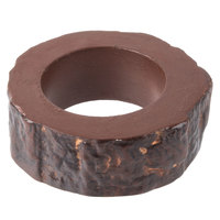 Clipper Mill by GET NPKWOOD-01 2 1/2 inch Brown Cast Aluminum Faux Wood Napkin Ring Holder