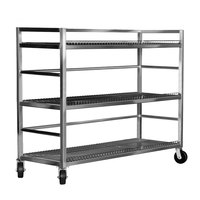 Channel MC2472-3 Transport Flight Cart with 3 Shelves