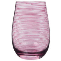 Stolzle S3527712T Twister 16.5 oz. Lilac Stemless Wine Glass / Tumbler - 6/Pack