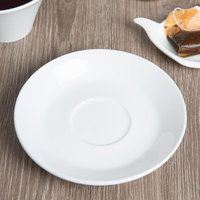 World Tableware BW-1162 Basics 5 3/4 inch Bright White Porcelain Saucer   - 36/Case