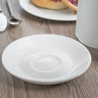 World Tableware BO-1162 Basics Orbis 5 3/4 inch Bright White Porcelain Saucer - 36/Case