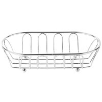 Clipper Mill by GET 4-22454 9 inch x 5 1/4 inch Chrome Metal Oval Wire Basket