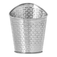 Tablecraft GTSS375 Brickhouse Collection 10 oz. Stainless Steel Round Fry Cup