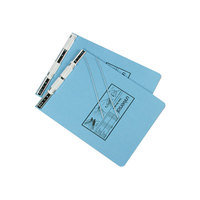 UNV15431 9 1/2 inch x 11 inch Top Bound Hanging Data Post Binder - 6 inch Capacity with 2 Fasteners, Light Blue