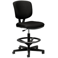 HON 5705SB11T Volt Series Adjustable Black Leather Task Stool