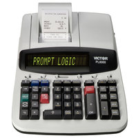 Victor PL8000 14-Digit Black One-Color Prompt Logic Printing Calculator - 8 Lines Per Second