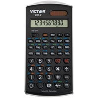 Victor 930-2 10-Digit LCD Solar Battery Powered Scientific Calculator