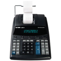 Victor 1460-4 12-Digit Black / Red Two-Color Extra Heavy-Duty Printing Calculator - 4.6 Lines Per Second