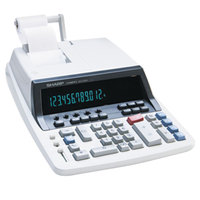 Sharp QS-2760H 12-Digit Black / Red Two-Color Printing Calculator - 4.8 Lines Per Second