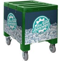 IRP 3101494 Green Ice Caddy 200 lb. Mobile Ice Bin / Beverage Merchandiser