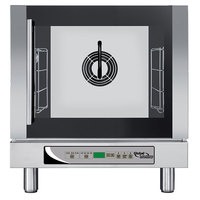 Global Solutions By Nemco GS1125 Half Size 4 Pan Countertop Convection Steam Oven with Digital Controls and Steam Injection - 208-240V, 2750-2900W