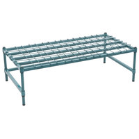 Regency 24 inch x 48 inch Heavy-Duty Green Dunnage Rack with Mat