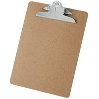 Universal UNV40304 1 inch Capacity Brown 13 inch x 9 inch Hardboard Clipboard