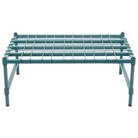 Regency 24 inch x 36 inch Heavy-Duty Green Dunnage Rack with Mat
