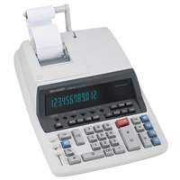 Sharp QS-2770H 12-Digit Black / Red Two-Color Printing Calculator - 4.8 Lines Per Second