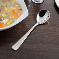 Reed & Barton RB126-016 Silver Birch 6 inch 18/10 Stainless Steel Extra Heavy Weight Bouillon Spoon - 12/Case