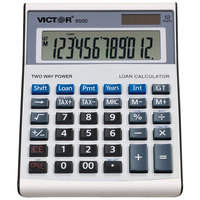 Victor 6500 12-Digit LCD Solar Battery Powered Executive Desktop Loan Calculator