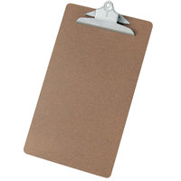 Universal UNV40305 1 inch Capacity Brown 16 inch x 9 inch Hardboard Clipboard
