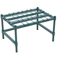 Regency 18 inch x 24 inch Heavy-Duty Green Dunnage Rack with Mat