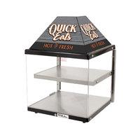 Global Solutions By Nemco GS1410 18 inch 2 Shelf Hot Food Merchandiser - 120V, 260W