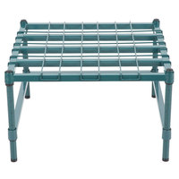 Regency 24 inch x 24 inch Heavy-Duty Green Dunnage Rack with Mat