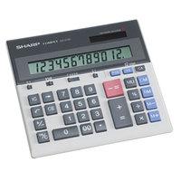 Sharp QS-2130 12-Digit LCD Solar Battery Powered Compact Desktop Calculator
