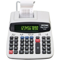 Victor 1310 10-Digit Black One-Color Big Print Thermal Printing Calculator - 6 Lines Per Second