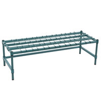 Regency 18 inch x 48 inch Heavy-Duty Green Dunnage Rack with Mat