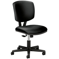 HON 5703SB11T Volt Series Black Leather Synchro-Tilt Task Chair