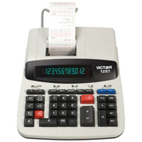 Victor 1297 12-Digit Black / Red Two-Color Commercial Printing Calculator - 4 Lines Per Second