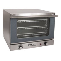 Global Solutions By Nemco GS1200 Quarter Size 3 Pan Countertop Convection Oven - 120V, 1300W