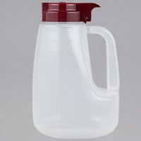 Tablecraft PP64M Option 64 oz. Dispenser Jar with Maroon Top