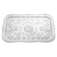 22 inch x 16 1/2 inch Crystal Rectangular Plastic Catering Tray