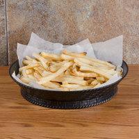 GET RB-880-BK 10 1/2 inch Black Round Plastic Fast Food Basket with Base - 12/Pack