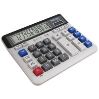 Victor 2140 12-Digit LCD Solar Battery Powered Desktop Business Calculator